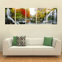 Find More Painting & Calligraphy Information about PF5002 Printed 5 pieces panel oil painting on canvas wall art pictures for home decoration fall red leaves and mountain springs,High Quality painting seascapes in oil,China painting flowers and plants Suppliers, Cheap painting planters from Oriental Artwork on Aliexpress.com