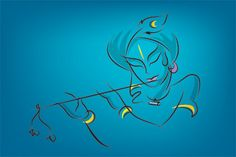 Krishna on Blue