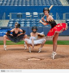 Ballet & Baseball..I find this rather amusing, if baseball was actually like this i would totally watch it!!