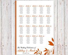 FREE RUSH SERVICE 24 hours Autumn Wedding Seating by HappyBlueCat