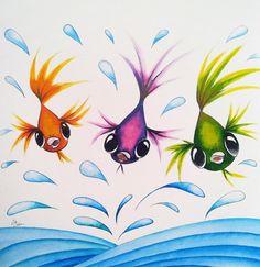 cute fish painting