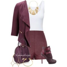 Out on the Town in Plum Purple Coat, Purple Haze, Dark Purple, Wardrobe Makeover, Purple Outfits, Trendy Fashion Jewelry, Denim Outfit, Complete Outfits, Women's Summer Fashion
