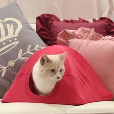 17 super Ideas for cats diy toy gatos Diy Cat Tent, Diy Tent, Dyi Cat Bed, Tent Craft, Cat Beds, Old T Shirts, Cat Furniture, Furniture Stores, Luxury Furniture