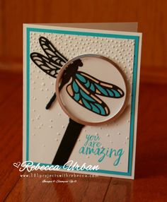 Stampin Up Dragonfly Dreams. Stampin Up cards. Global Design Project #075. Card making challenges. Stampin Up thank you cards