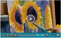 Free Oil Painting Lessons – Choose from more than 130 how-to video demonstrations by some of the best known artists in the world. The videos are produced by Jerry's Artarama and offered for free as a way of introducing you to their web site and line of art supplies. (Photo:  Getting Loose with Sunflowers Video by Nicole Kennedy)