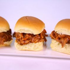 Pulled Pork Sliders - Christina Rose Rahn - The Chew Slow Cooker Recipes, Crockpot Recipes, Cooking Recipes, Pork Recipes, Fish Recipes, Pulled Pork Sliders, Beef Sliders, Chicken Sliders, Recipes