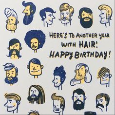 Beardy Birthday Card