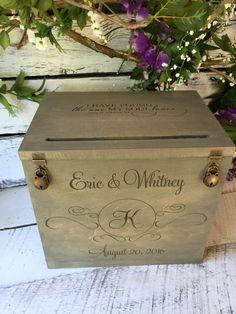 Wedding Card Box Rustic Wedding Gift Card Box Wedding Box Wedding Gift Card Box, Rustic Card Box Wedding, Gift Card Boxes, Wedding Boxes, Wedding Wishes, Wedding Cards, Wedding Ideas, Wedding Stuff, Advice Cards