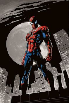 The Spider-Man stands tall on high scaled structure overviewing the Big Apple to ensure no civil unrest prevails. Spiderman Pictures, Spiderman Movie, Amazing Spiderman, Marvel Comics Superheroes, Marvel Art, Marvel Heroes, Ms Marvel, Captain Marvel, Spectacular Spider Man