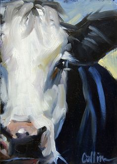 """Here are two new 5x7 cows. I really like the """"up close and personal"""" faces. I'm working on lots more cows since I've had such a great respon..."""