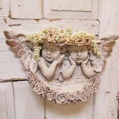 Cherub statue wall hanging shabby chic cherub by AnitaSperoDesign, $170.00