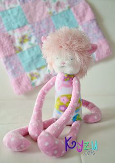 This is the cutest little plush doll ever! Handmade and oh so cute!