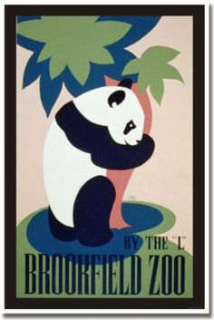 Visit the Brookfield Zoo, Vintage Reproduction, WPA Poste... https://www.amazon.com/dp/B004YXVYD6/ref=cm_sw_r_pi_dp_x_iSxcybFACHJDB