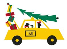 Holiday Taxi Note Cards