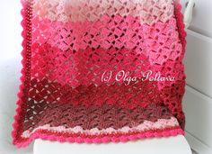 Cherry Chip Baby Afghan Crochet Pattern Baby Blanket