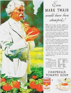 Campbell's Tomato Soup – Even Mark Twain would have been stumped