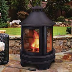 1 Garden Fire Pit Logs In A Modern Outdoor Firepit Brazier UK Design On Sale