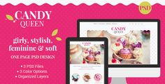 Candy Queen - Beautiful, Clean One Page Portfolio by magethemes Candy Queen Beautiful, Clean One Page PortfolioWhether youre looking for a design for your candy boutique, florist design studio