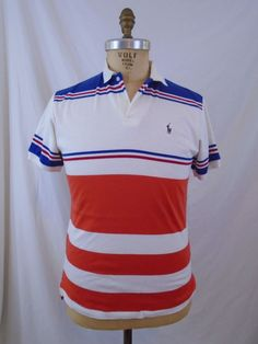 Ralph Lauren Custom Leisure Breathable Cotton Red Strip Polo