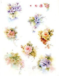 # 44 цветочный сорт фарфор картина исследования, проведенного ХЕЛЕН ХЬЮМС 1974