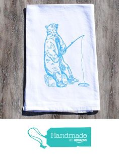 Winter Kitchen Dish Towel Flour Sack Cotton Screen Printed Polar Bear from Heaps Handworks http://www.amazon.com/dp/B0174XF5EQ/ref=hnd_sw_r_pi_dp_NFIpwb0AS9C11 #handmadeatamazon