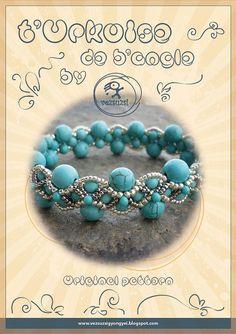 beading pattern Bracelet tutorial / pattern T'Urkuoise de b'angle bracelet...PDF instruction for personal use only