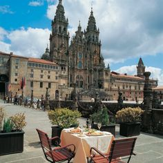 Santiago de Compostela, Spain  View from the Reyes Catolicos Cafe