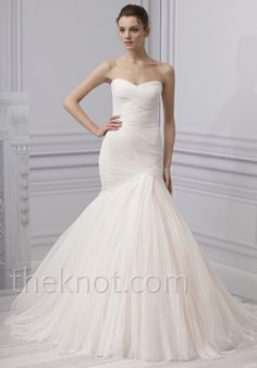 Check out this #weddingdress: Forever by Monique Lhuillier via iPhone #TheKnotLB from #TheKnot