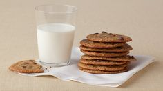 Look at this recipe - Lighter Chocolate Chip Cookies - from Food Network Kitchens and other tasty dishes on Food Network.