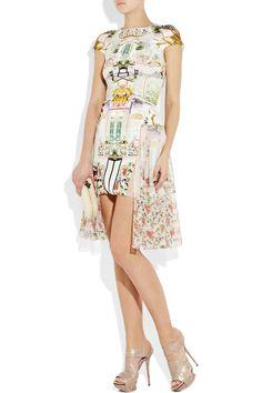 Mary Katrantzou|Serendipity printed silk and chiffon dress|NET-A-PORTER.COM
