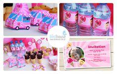 Ice Cream Party Decorations, Ice Cream Birthday Party Printables, Ice Cream Party Invitation