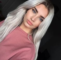 Edgy and intimidating, the silver hair trend has all the cool girl vibes. Here, 17 gray and silver hair inspiration photos that will have you running to your colorist immediately. Long Hair Wigs, Real Hair Wigs, Hair Extensions Prices, Tumbrl Girls, Grey Wig, Silky Hair, Remy Hair, Ombre Hair, Hair Looks