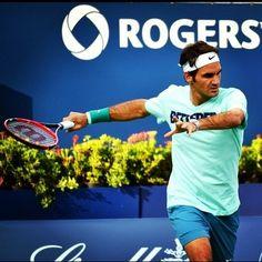 Roger Federer @JugamosTenis Rogers Cup #Toronto
