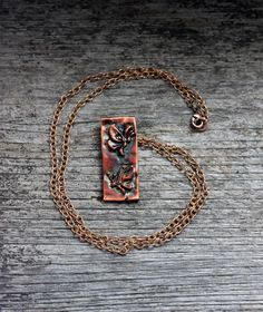 Two Butterflies copper pendant necklace - solid copper chain by EarthlyCreature on Etsy