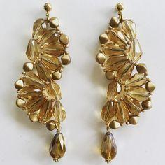Crystal earring. Hipocampo. Crystals. Aros en cristales