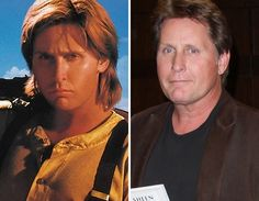 Men of the -- Emilio Estevez Celebrities Then And Now, Young Celebrities, Hollywood Celebrities, Celebs, Emilio Estevez, As Time Goes By, Stars Then And Now, Successful People, Getting Old