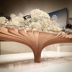 by @astoff929 #garden #bridge #hammer #museum #LA #heatherwick #studio #wood #model Concept Architecture, Architecture Details, Nendo Design, Bridge Model, Thomas Heatherwick, Chocolate Showpiece, Tree Interior, New Years Tree, Exhibition Stand Design