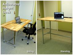 Adjustable Height Sitting and Standing Desk