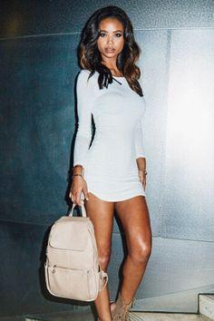 Irregular Fashion Long Sleeve Bodycon Dress