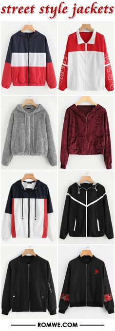 street style jackets from romwe.com