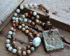 Hey, I found this really awesome Etsy listing at https://www.etsy.com/listing/207324675/earthy-bohemian-gypsy-necklace-stoneware