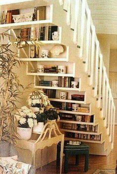 Bookshelf under stair...