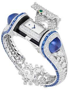with · · · A dream bracelet of Van Cleef&Arpels with a secret watch 💙⏰ Van Cleef&Arpels'ın gizli saati ile süslenen harika bileziği💙⏰ Amazing Watches, Beautiful Watches, High Jewelry, Luxury Jewelry, Bijoux Van Cleef And Arpels, Timex Watches, Expensive Watches, Stylish Watches, Unique Watches