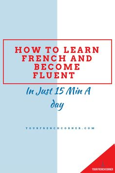 Learn French even if you are busy. Repin for later ;-) #learnfrench #frenchimmersion