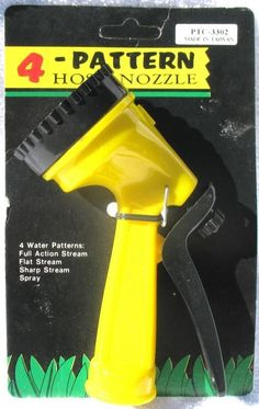 4 Pattern Garden Lawn Water Sprayer Hose Nozzle Wholesale Lot.