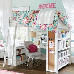 Para um quarto lindo, completo e compacto! #inlove