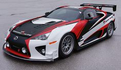 Lexus LFA race car prepared by Gazoo Racing