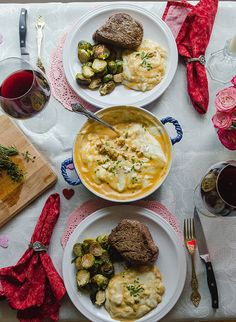 A Decadent Gluten-Free Valentines Day Feast For Two by @SoLetsHangOut // #glutenfree #valentinesday #paleo #steak #lobster #holiday #romantic #grainfree