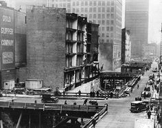 Then Vs. Now: New York City -- Then: Church and Warren Streets during subway construction (1927)