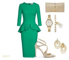 Reign Supreme In Green by flybeyondtheskies on Polyvore featuring Jimmy Choo, Nina Ricci, Anne Klein and Charter Club